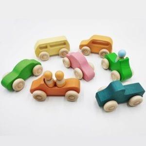 Rainbow Cars (6 cars)