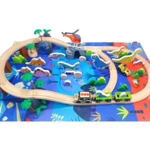 Dinosaur Wooden Train Track