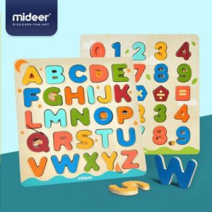 Magnetic Alphabet and Number Wooden Board