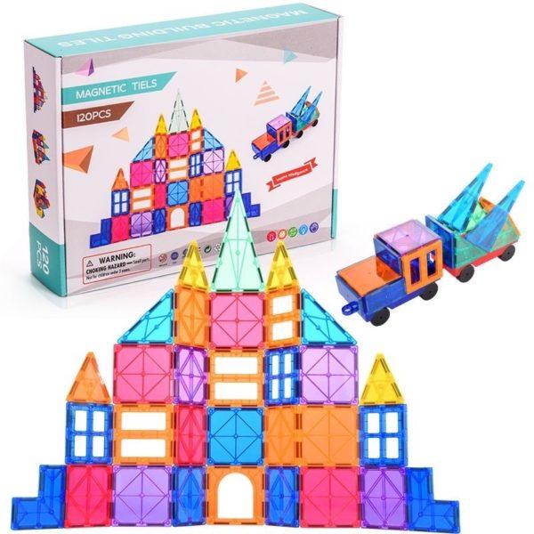 Magnetic Tiles Building Blocks (120 pieces)