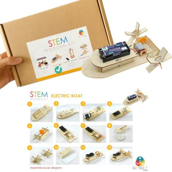 Stem Wooden Kit (electric boat)