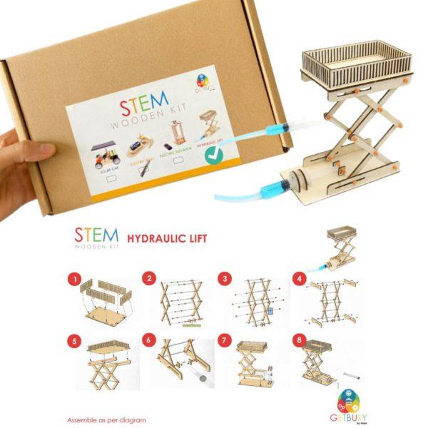 Stem Wooden Kit (hydraulic lift)
