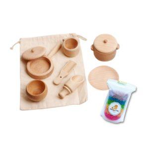 Mini Wooden Sensory Bin Set